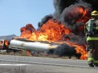 Fuel tanker fire