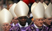 Cardinal Turkson attends the Ash Wednesday mass at the Vatican