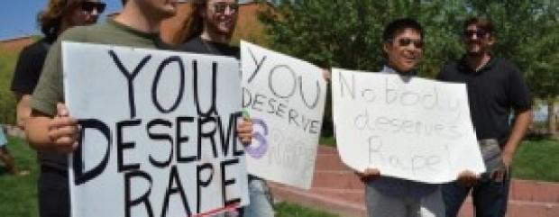 Student rape sign