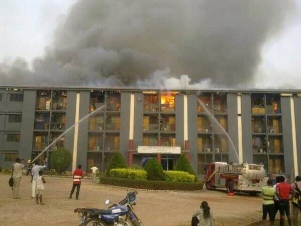 Breaking  Knust Crystal Rose Hostel Up In Flames  Photos