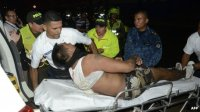 Colombian fire victim