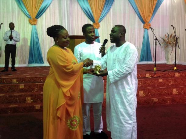 From Left, Hon Obuobia, middle prophet Brian Amoateng and right Rev. Jonathan Ekuban