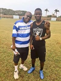 Jonathan Mensah and Coach Sellas Tetteh