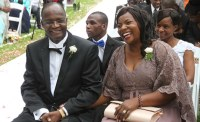 Minister Jonathan Moyo and his wife