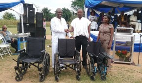 Ghana Baptist University Presents Wheelchairs to PWDs